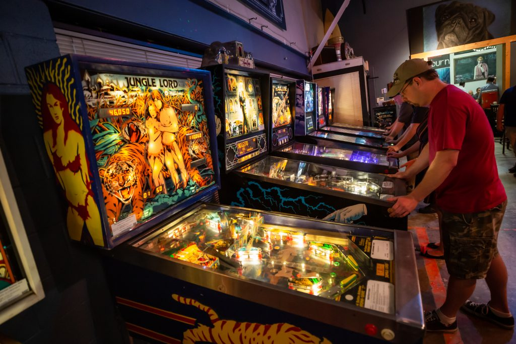 Competitive Pinball At Lost Rhino